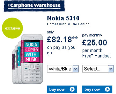 Nokia 5310 Comes With Music