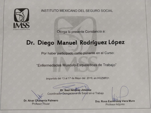 Dr. Diego Manuel Rodríguez López Ortopedista, Durango