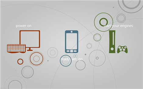 Microsoft three screens wallpaper