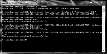 vhd boot cmd commands attach vhd to boot windows 7