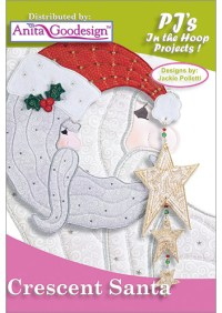 PJ's in the Hoop: Crescent Santa | Holiday Embroidery Designs