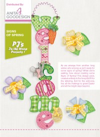 PJ's in the Hoop: Signs of Spring | Holiday Embroidery Designs