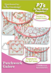 PJ's in the Hoop: Patchwork Galore | Machine Embroidery Design