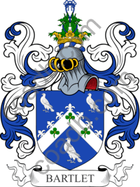 Bartlett Family Crest Coat of Arms and Name History