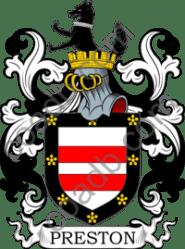 preston crest arms coat name history