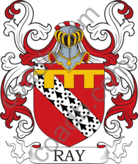 Ray Family Crest Coat of Arms and Name History