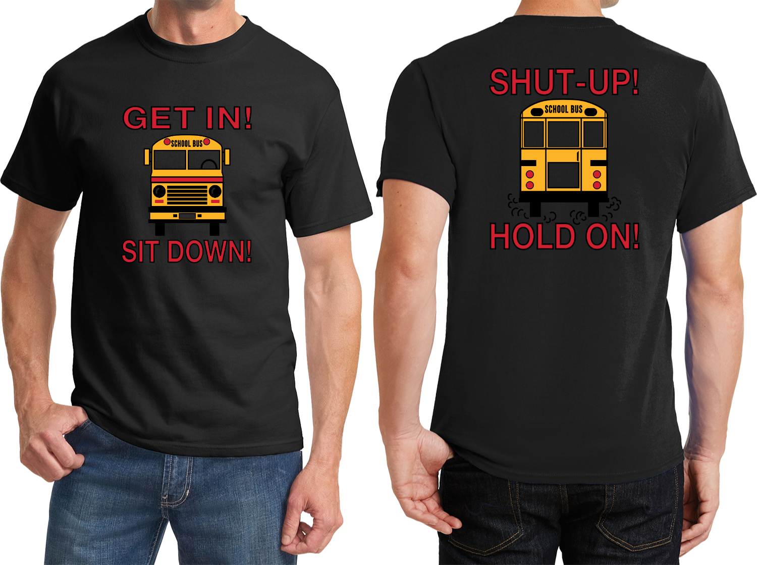 Cool Shirts School Bus Driver T-shirt In Sit