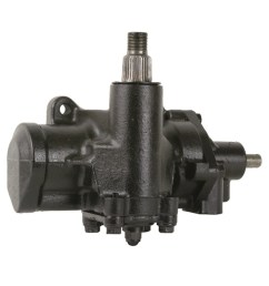 complete power steering gearbox assembly 4 wide splines on sector shaft  [ 1024 x 1024 Pixel ]