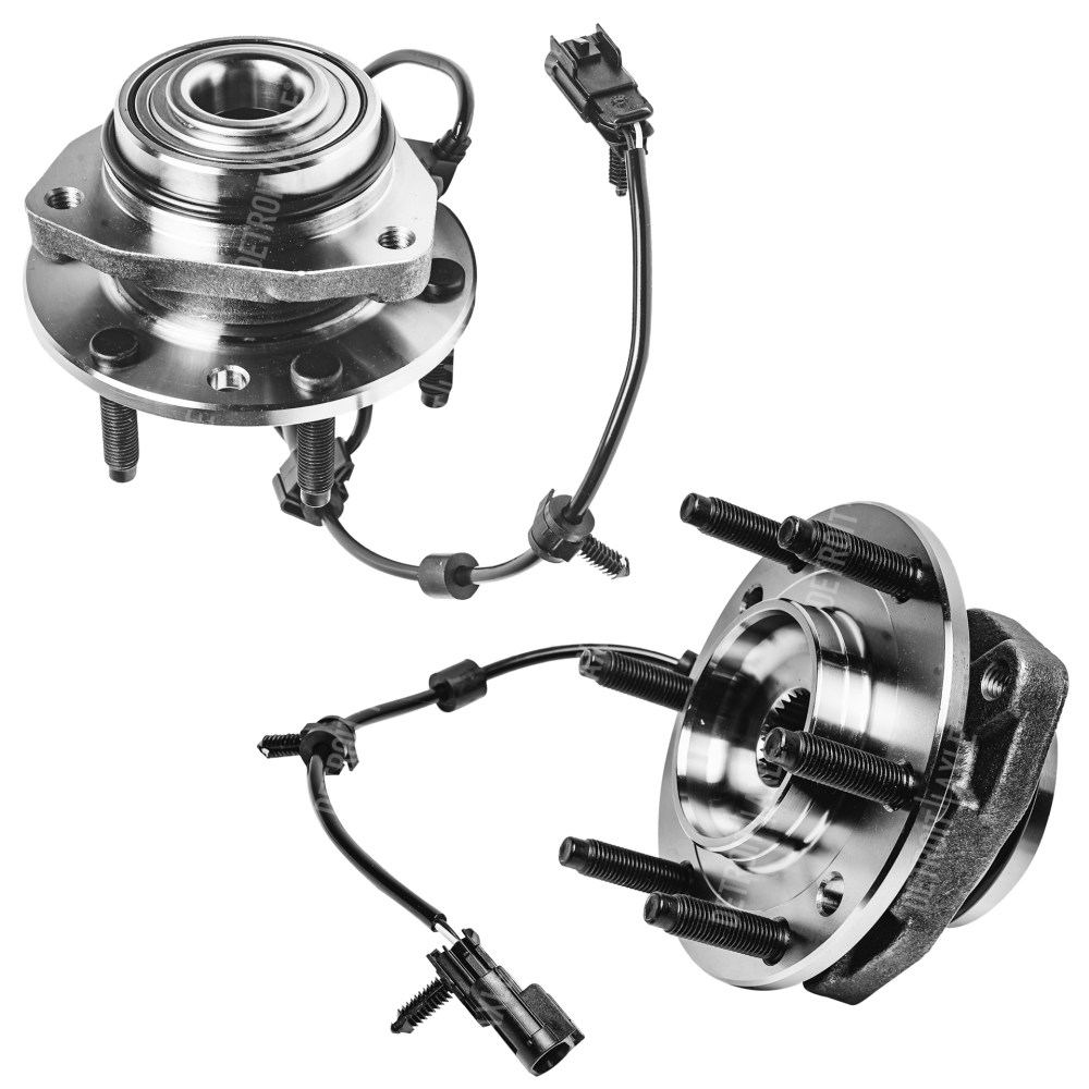 medium resolution of front wheel bearing and hub assembly pair w abs