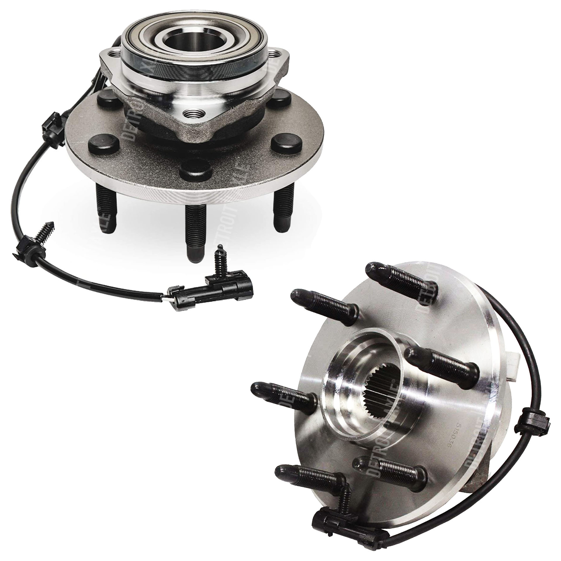 hight resolution of both 2 4wd front wheel bearing and hub assembly pair 6 lug