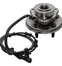2002 2005 ford explorer front wheel hub and bearing assembly driver or passenger side [ 1024 x 1024 Pixel ]