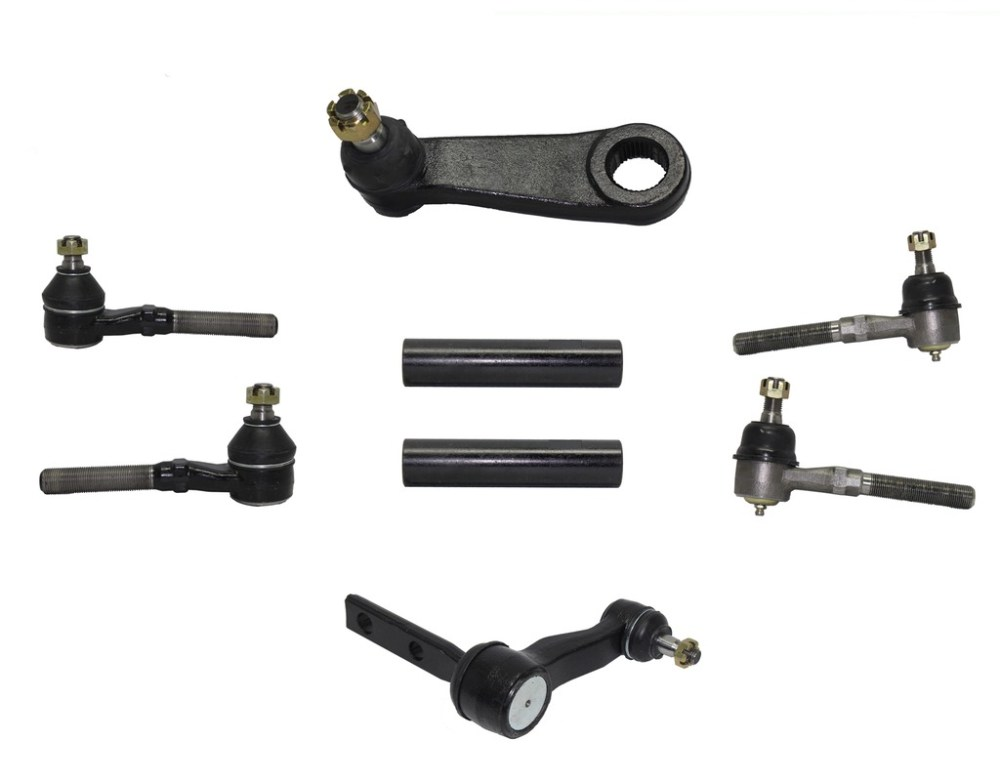 medium resolution of 8 piece 4x4 only front steering kit includes inner and outer tie rod ends