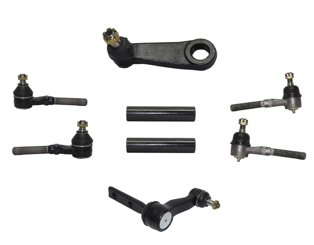 hight resolution of 8 piece 4x4 only front steering kit includes inner and outer tie rod ends
