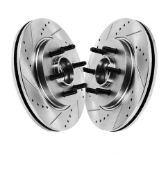 pair 2 12 99 330mm front drilled and slotted brake rotors performance grade for ford f150 lincoln mark lt [ 1920 x 1920 Pixel ]