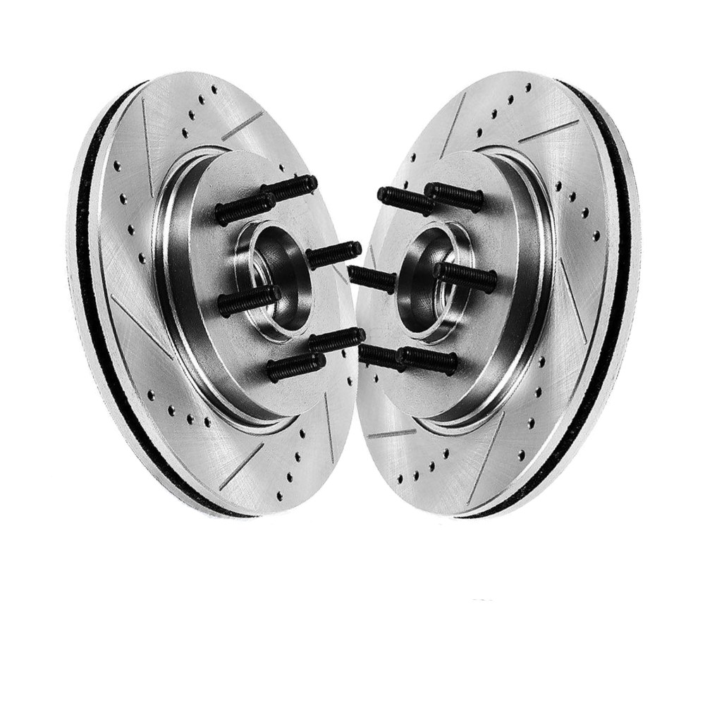 medium resolution of pair 2 12 99 330mm front drilled and slotted brake rotors performance grade for ford f150 lincoln mark lt