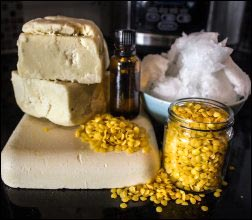 beeswax-pellets-shea-butter-coconut-oil-essential-oil