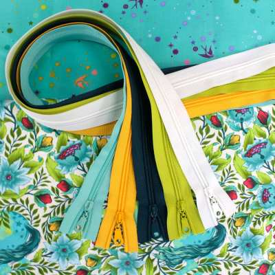 Pinkerville Fabric & Zipper Bundle - Frolic