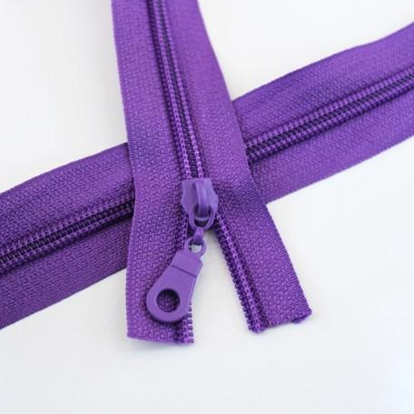 #5 Purple Zipper with Regular Coil