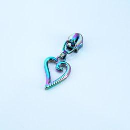 #5 short heart pulls rainbow