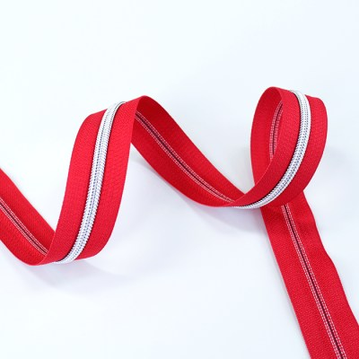 red tape with silver coil
