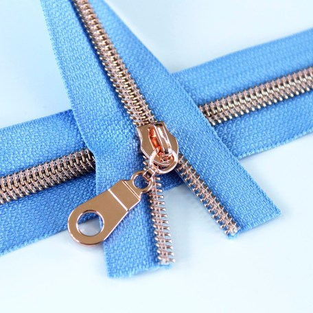 5-Nylon-Coil-Zipper-periwinkle-with-rose-gold-teeth