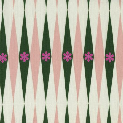 Playful - Backgammonish - Green-Natural Fabric