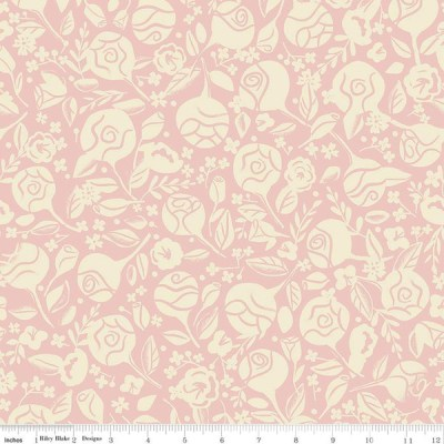 Beauty and the beast floral pink