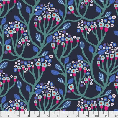 Endless Summer Bubbling Midnight Fabric