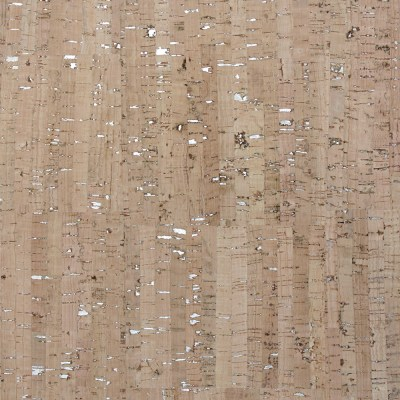 Cork Fabric – Natural with Silver Flakes