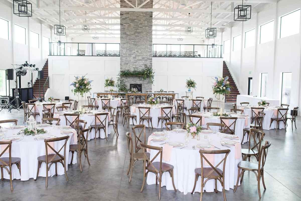 bright reception venue