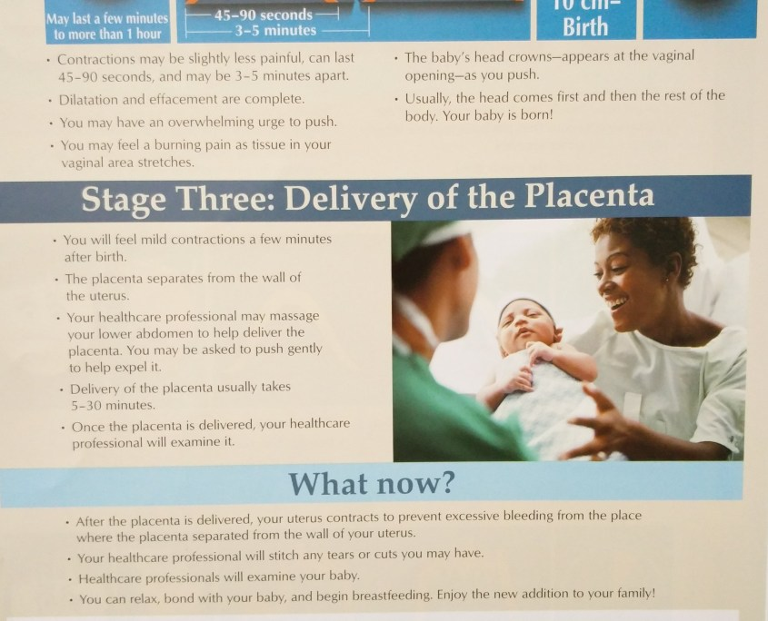 phases of labor, stages of labor, early labor, active labor, pushing, placenta