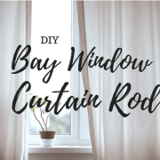 bay window, curtain, rods, diy, do it yourself, lifestyle, home, project, pvc, spray paint, simple, ikea, home depot, view, kitchen, new, household, decor, 2018, 3d printer, printed, brackets, curtain rod holder