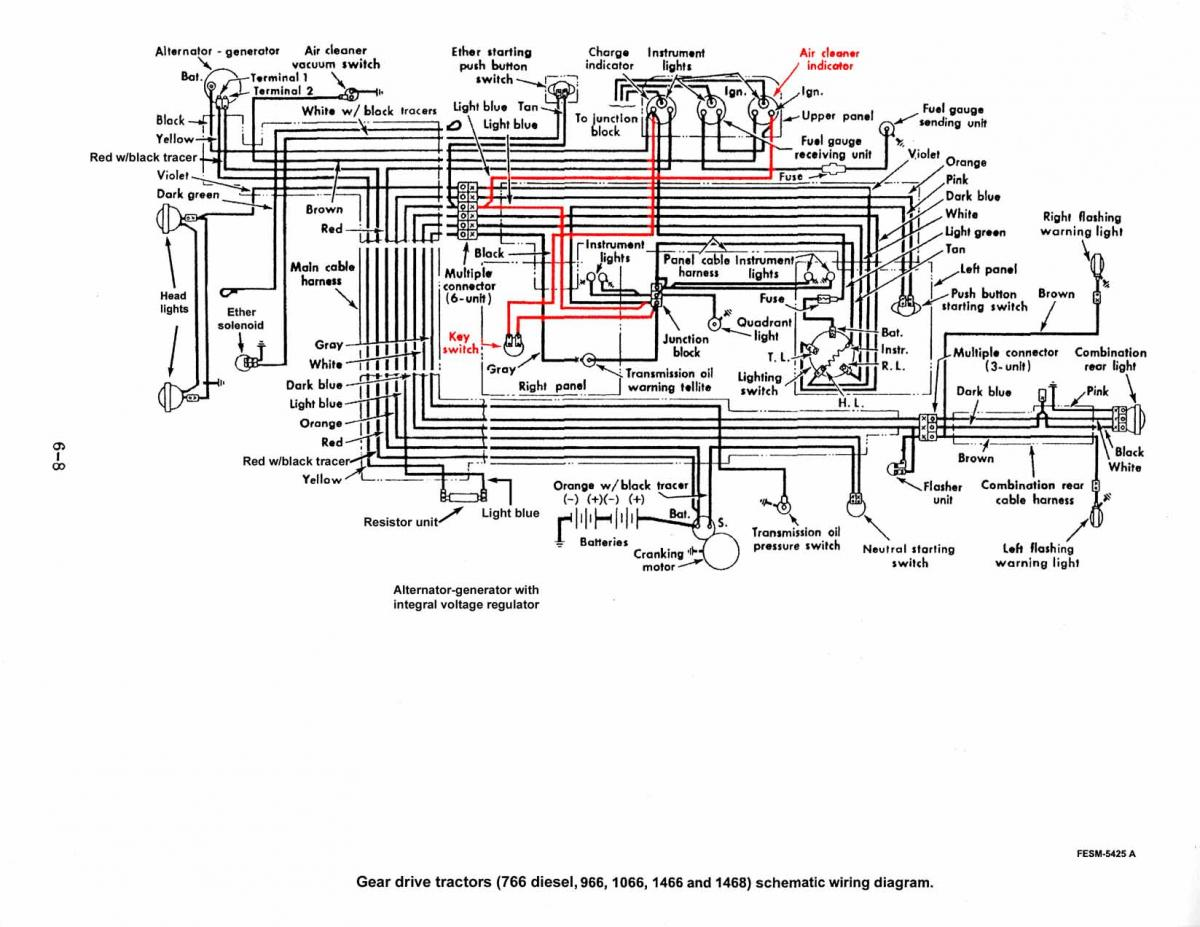 hight resolution of 1066 projects builds restorations red power magazine community ih 806 wiring diagram ih