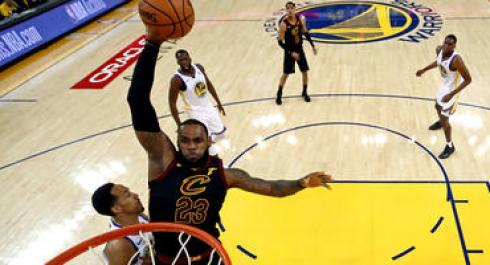 Cavaliers forward LeBron James
