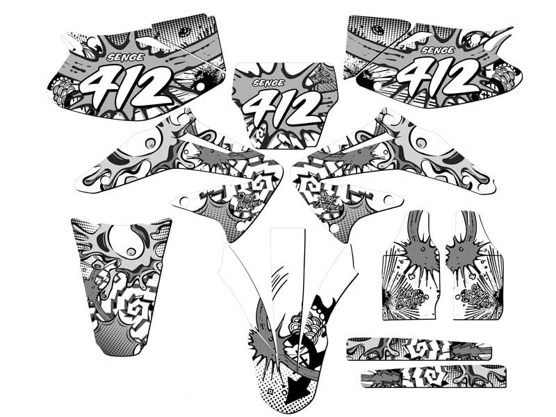 2002 2003 2004 CRF 450R GRAPHICS KIT CRF450R 450 R DECO
