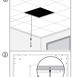 install the microphone into the ceiling grid  [ 768 x 2652 Pixel ]