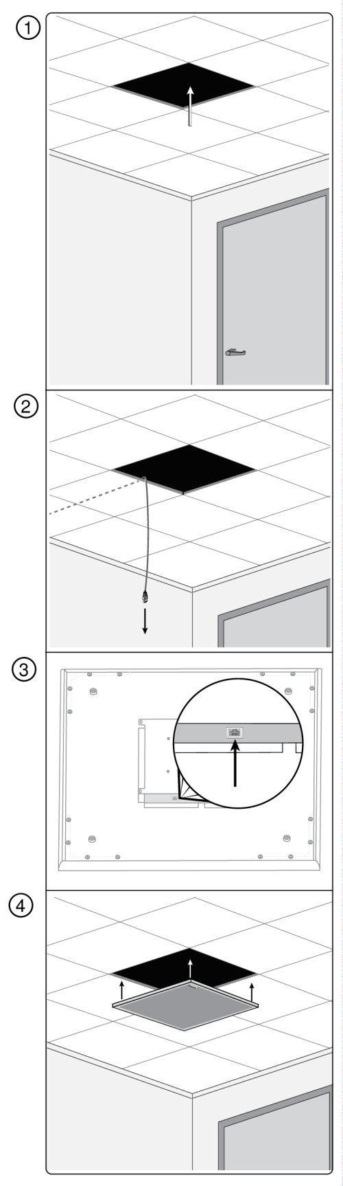 small resolution of install the microphone into the ceiling grid