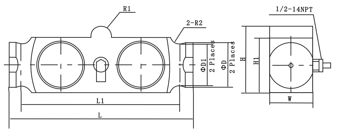 B9F Double Ended Link Shear Beam Load Cell