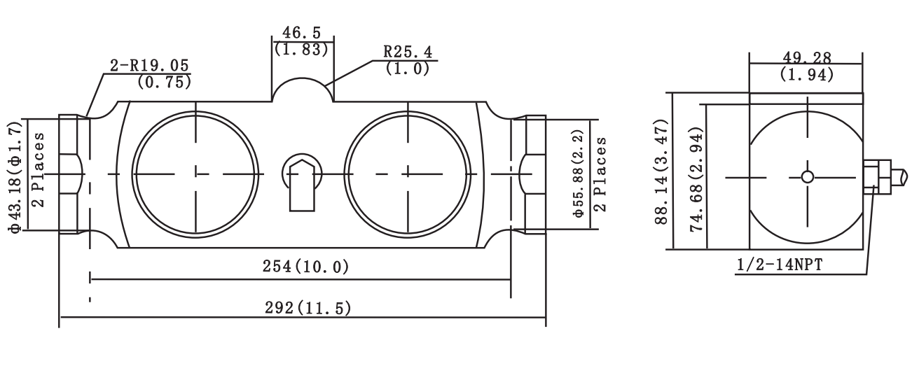 H9H Double Ended Link Shear Beam Load Cell