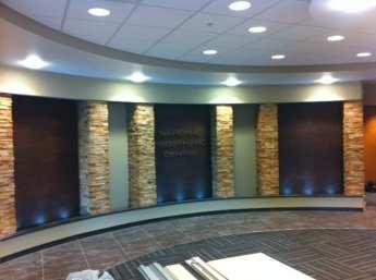 Brown Copper Scored Acrylic Lobby