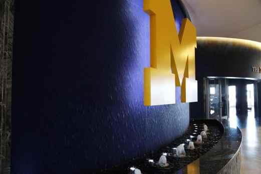 bubbler jets reflection pool university of michigan crisler center ann arbor mi indoor water feature 2