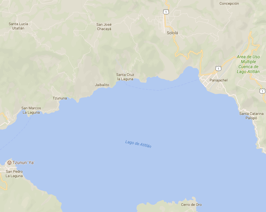 Sololá, Guatemala map
