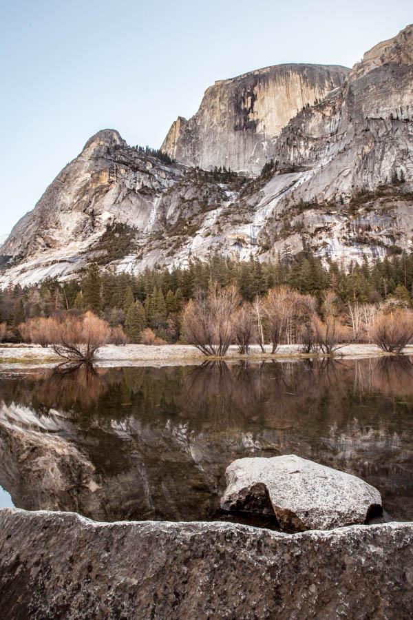 Half Dome at Mirror Lake at Yosemite National Park #vezzaniphotography