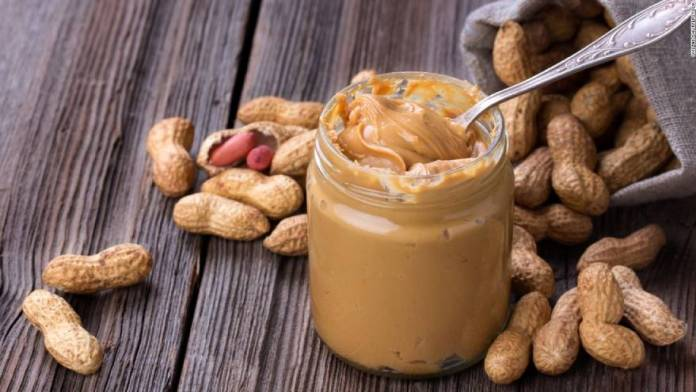 Peanut butter is one of the ingredients in this banana pudding