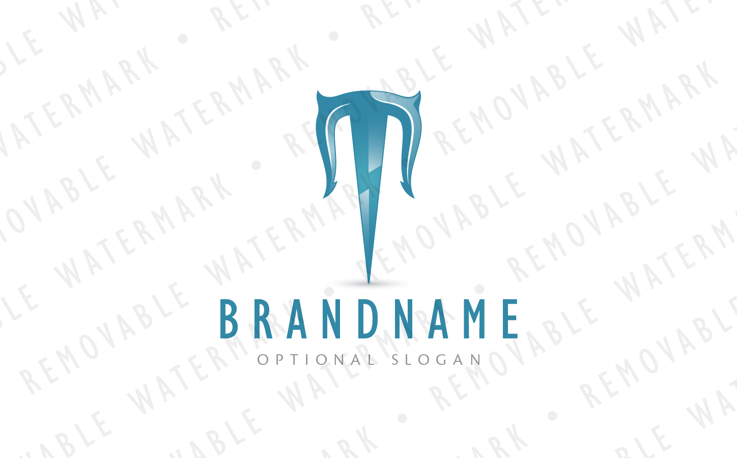 T Power Trident Logo Template