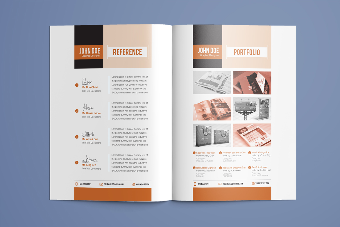 Resume Indesign Resume Booklet Modern Cv Professional And Creative