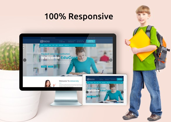 100% Responsive School Website Template