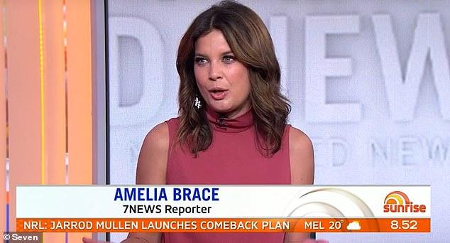 No soy fan del cambio: la reportera de Seven News Amelia Brace (en la foto) ha criticado los llamados para que Donald Trump sea eliminado de Home Alone 2: Lost in New York