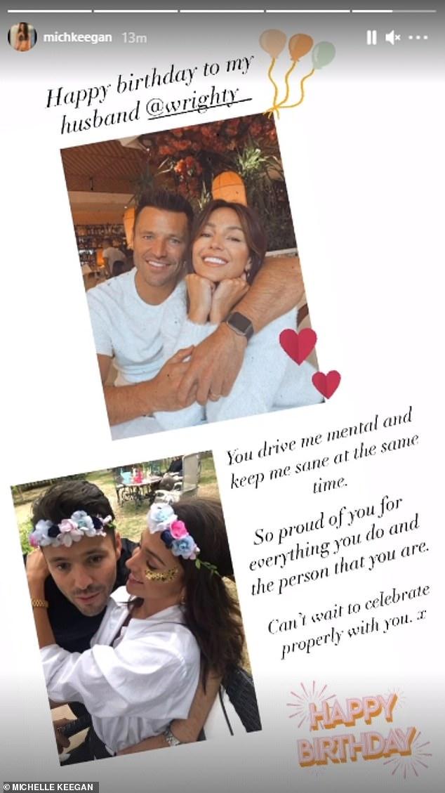 Dulce: Michelle Keegan demostró que su amor por su esposo Mark Wright, con quien se casó en 2015, es más fuerte que nunca, ya que utilizó Instagram para rendir homenaje a la estrella de TOWIE en su cumpleaños número 34 el miércoles.