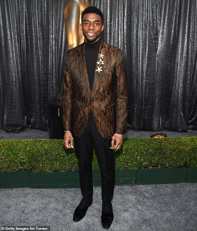 Récord récord: el fallecido Chadwick Boseman hizo historia como el primer actor en recibir cuatro nominaciones al SAG en un solo año por sus papeles en Ma Rainey's Black Bottom y Da 5 Bloods, estableciendo póstumamente un récord;  visto en 2019